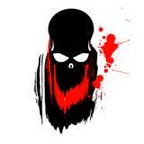 череп иллюстрации grunge Стоковое Изображение
