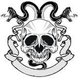 Череп и змейка Стоковые Изображения