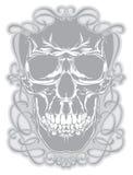 Череп и каллиграфические элементы дизайна Стоковая Фотография RF