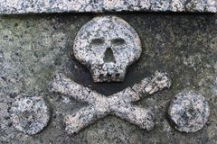 Череп и кости на a поздно стоковое фото rf
