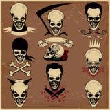Череп и кости, на предпосылке gunge, пират, бесплатная иллюстрация