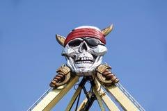 Череп и кости сверху установленный на carousel Стоковые Изображения RF