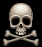 Череп и перекрещенные кости Стоковые Изображения RF