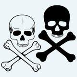 Череп и перекрещенные кости иллюстрация штока