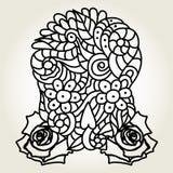 Череп и розы сахара Стоковые Изображения RF