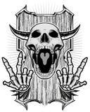 Череп и скелет Стоковая Фотография RF