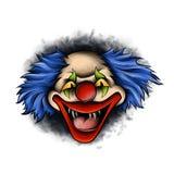 Череп клоуна иллюстрации изолированный на белой предпосылке бесплатная иллюстрация