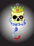 череп короля Иллюстрация вектора