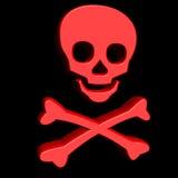 череп красного цвета 3d Стоковое Изображение RF