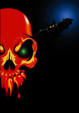 череп красного цвета halloween Стоковое фото RF