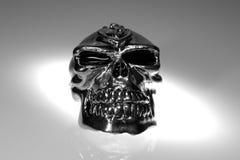 череп крома стоковые фотографии rf