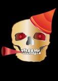 череп партии Иллюстрация вектора