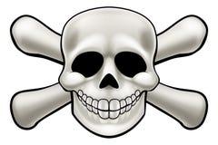 череп перекрещенных костей шаржа иллюстрация штока