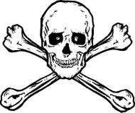 череп перекрещенных костей Стоковая Фотография