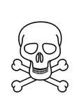 череп перекрещенных костей Стоковое Фото