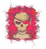 череп пирата карточки ретро Стоковое Изображение RF