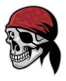 Череп пирата иллюстрация штока