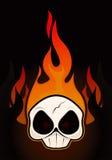 череп пожара Стоковая Фотография