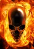 Череп пожара Стоковые Фото