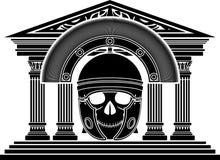 Череп римского центуриона Стоковое Изображение RF