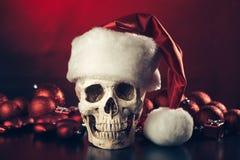 Череп Санта Клауса Стоковые Фотографии RF