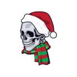 Череп Санта Клауса Стоковые Изображения RF