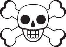 череп смерти косточек перекрестный иллюстрация штока