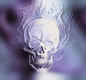 Череп стекло и влияние фрактали абстрактный цвет Стоковые Фотографии RF