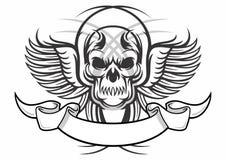 Череп татуировки Стоковое Изображение