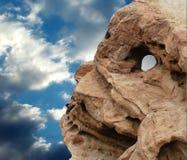 череп утеса стоковое фото rf