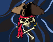 череп флага перекрещенных костей Стоковые Изображения RF