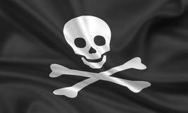 череп флага Стоковые Фотографии RF