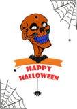 Череп хеллоуина Стоковые Изображения