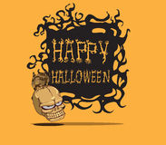 Череп хеллоуин Стоковое Изображение