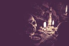 череп человека halloween Стоковая Фотография