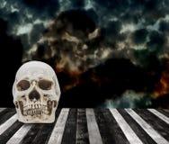 череп человека halloween Стоковые Фотографии RF