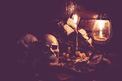 череп человека halloween Стоковое Фото