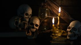череп человека halloween видеоматериал