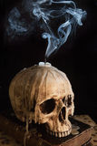 череп 7 свечек Стоковая Фотография RF