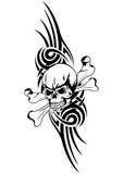 Череп bones trbal Стоковые Фотографии RF