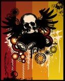 череп grunge ретро иллюстрация штока