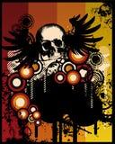 череп grunge ретро Стоковая Фотография RF