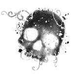 череп grunge иллюстрация штока
