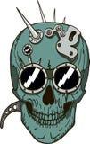 Череп Steampunk стоковая фотография