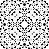 Черная АБСТРАКТНАЯ безшовная картина в белой предпосылке иллюстрация вектора