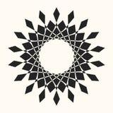 Черная абстрактная рамка круга вектора иллюстрация штока