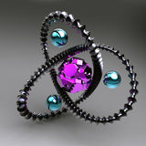 Черная абстракция с gemstones внутрь Стоковые Фотографии RF