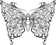 Черная бабочка шнурка Иллюстрация штока