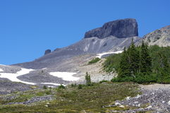 Черная башенка бивня вулканических пород Стоковые Изображения RF