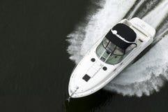 черная белизна быстроходного катера Стоковое Изображение RF